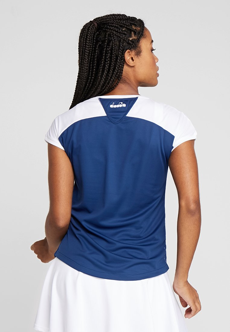 Diadora - COURT - T-shirt con stampa - saltire navy