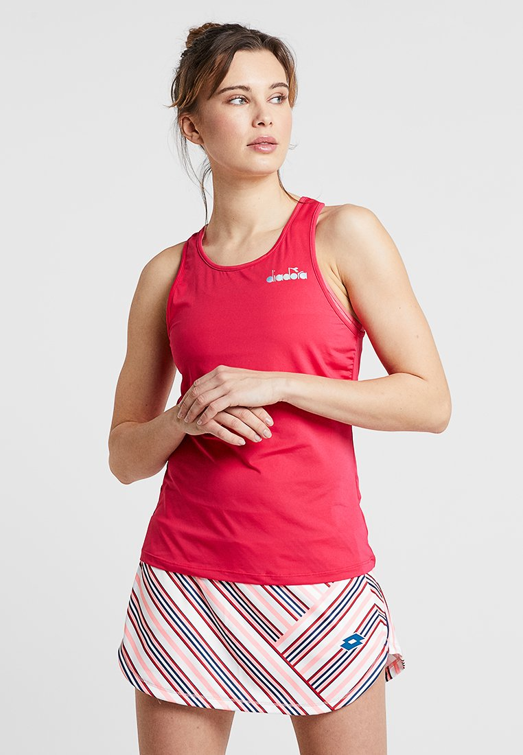 Diadora - TANK EASY TENNIS - Top - red virtual pink