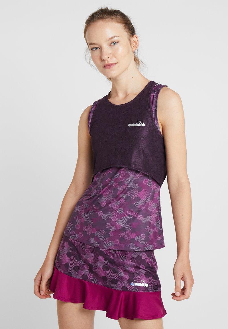 Diadora - TANK FIT - Funkční triko - plum perfect/boysenberry