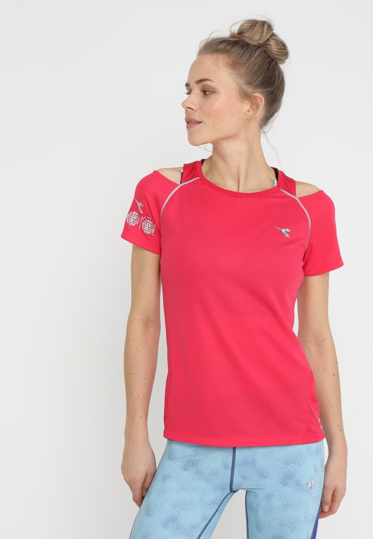 Diadora - BRIGHT SUN LOCK - T-Shirt print - red virtual pink