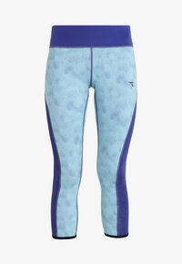 Diadora - REVERSIBLE - 3/4 sportovní kalhoty - aqua splash/clematis blue - 5