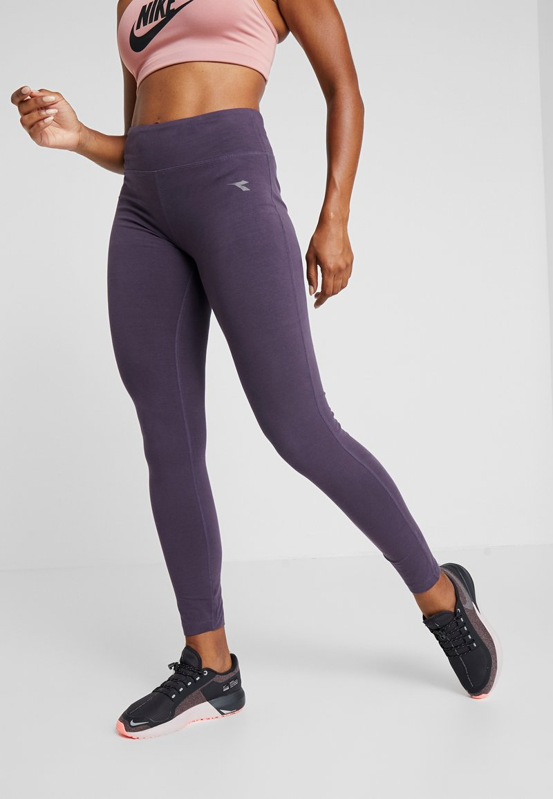 Diadora - LEGGINGS  - Punčochy - violet perfect