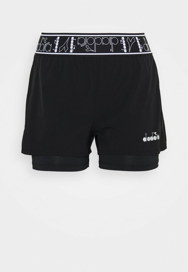 DOUBLE LAYER SHORTS - Sports shorts - black