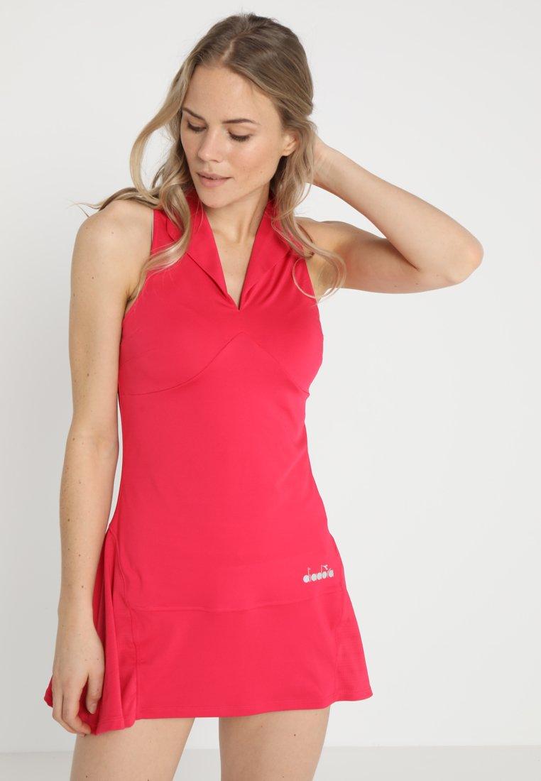 Diadora - DRESS CLAY - Sportkleid - red virtual pink