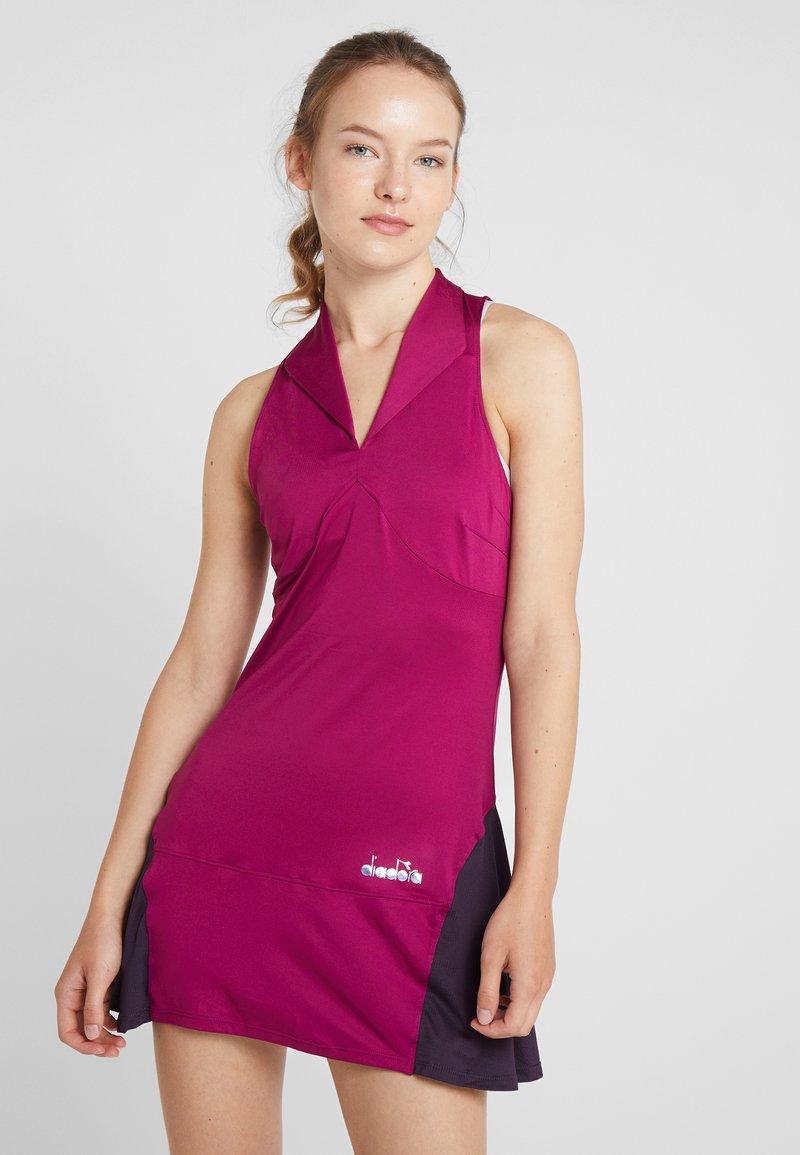 Diadora - DRESS CLAY - Sportovní šaty - violet boysenberry