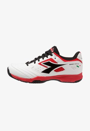S.CHALLENGE 2 AG - All court tennisskor - white/red/black
