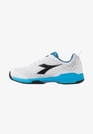 S.SHOT AG - All court tennisskor - white/malibu blue/black