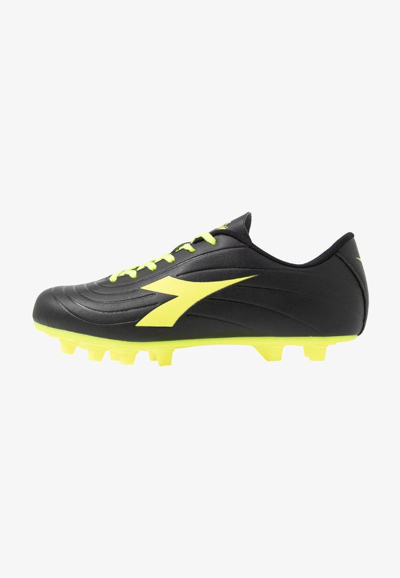 Diadora - PICHICHI 2 MDPU - Fodboldstøvler m/ faste knobber - black/yellow fluo