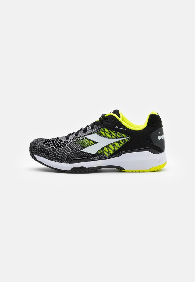 SPEED COMPETITION 5 + AG - Multicourt tennis shoes - black/white/yellow