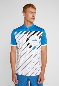 Diadora - T-shirt med print - blue deep water - 0