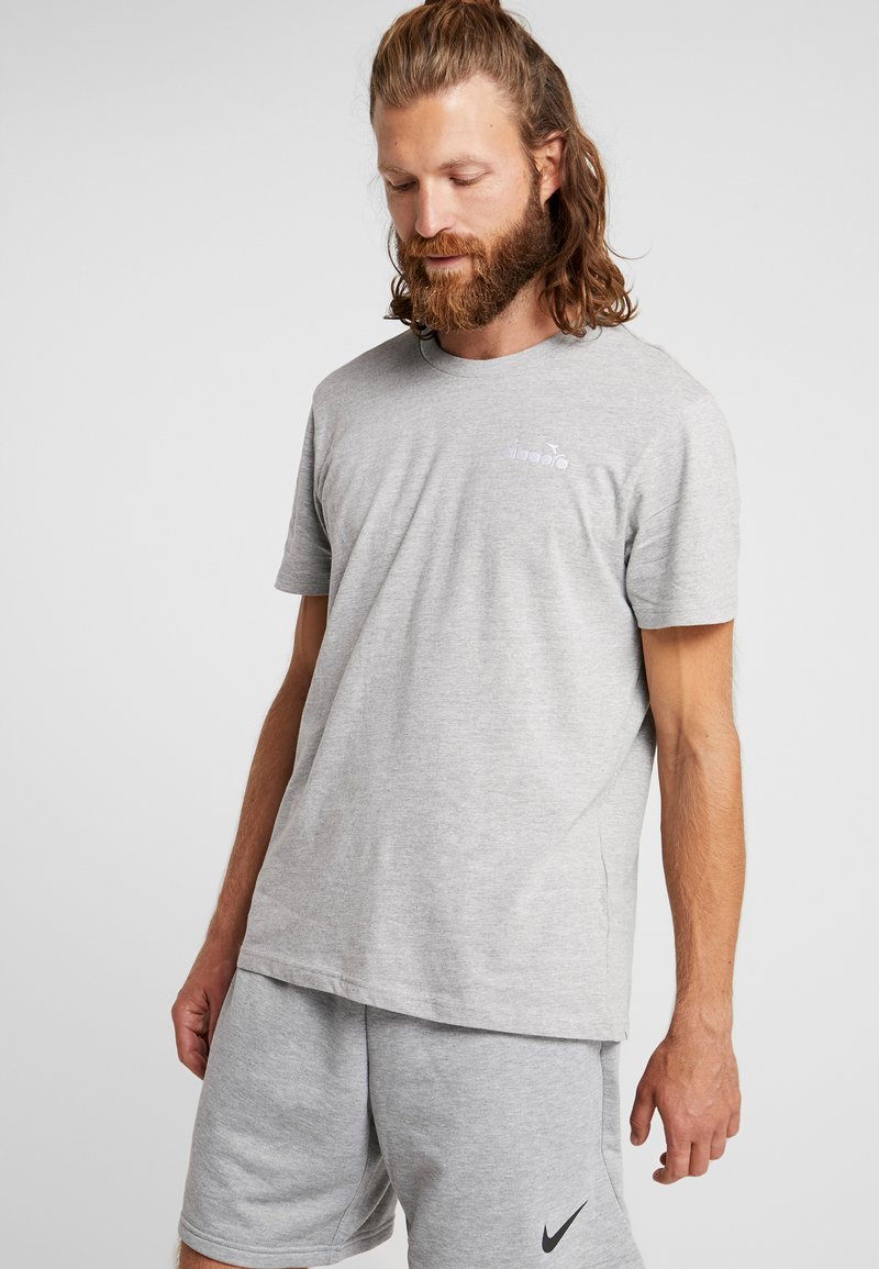 Diadora - CHROMIA - T-shirt basic - light middle grey melange