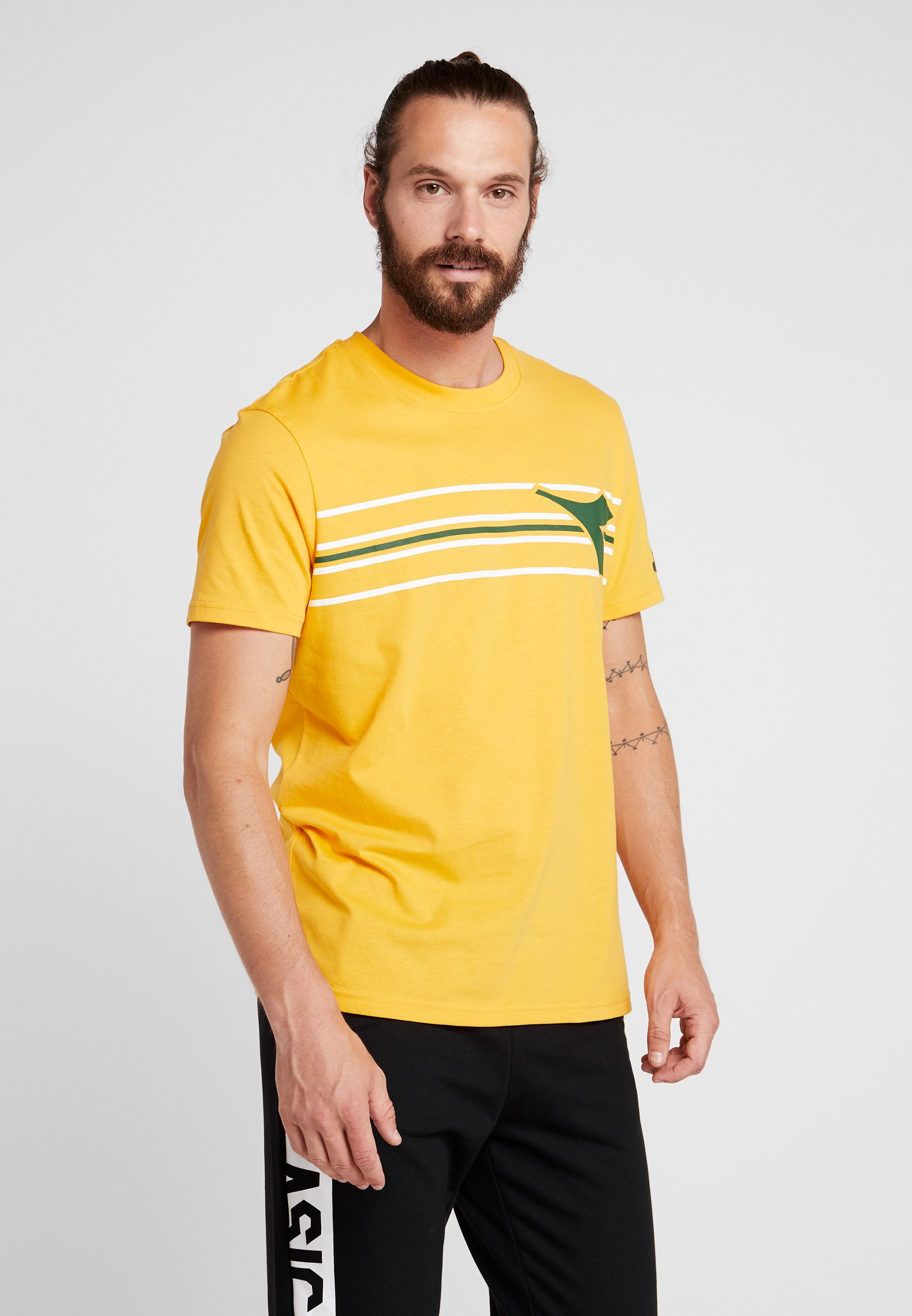 Imprimé Orange Diadora FregioT shirt Mustard m8wONn0v