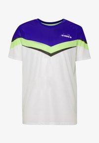 Diadora - CLAY - T-shirts med print - bright white/royal blue - 3