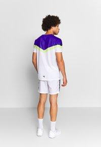 Diadora - CLAY - T-shirts med print - bright white/royal blue - 2