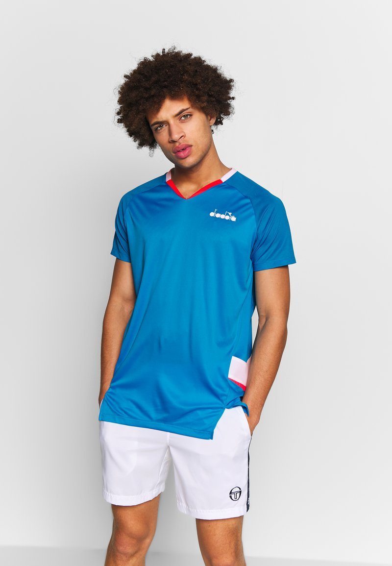 Diadora - Treningsskjorter - bright cyan blue