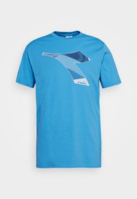 Diadora - KALEIDOS - Print T-shirt - azure sky blue - 4