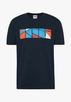 COURT - T-shirt print - blue corsair