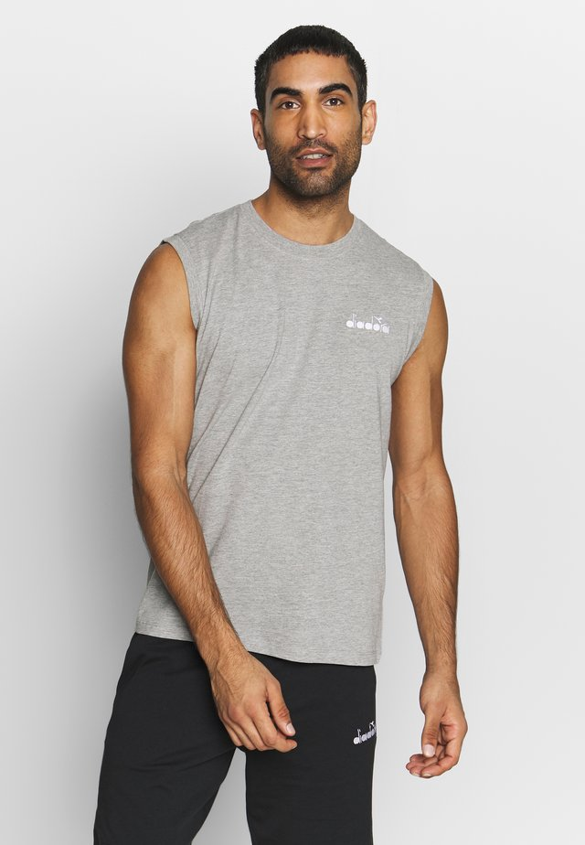 CORE - Top - light middle grey melange
