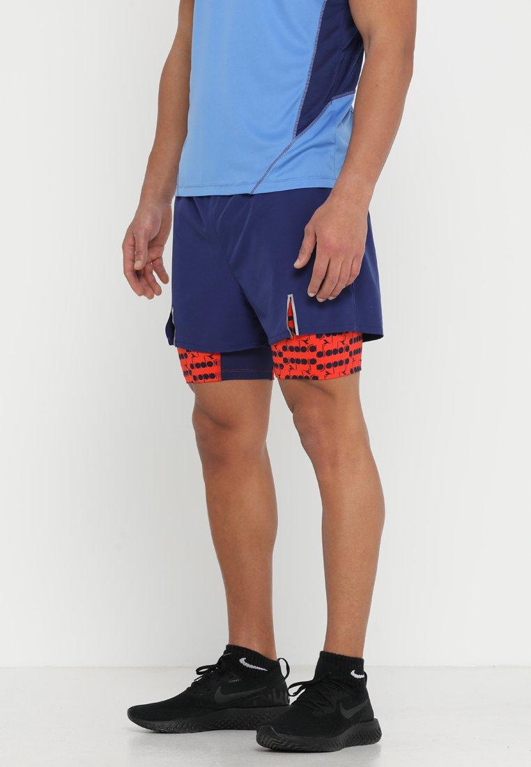 Diadora - DOUBLE LAYER BERMUDA - Pantaloncini sportivi - blue