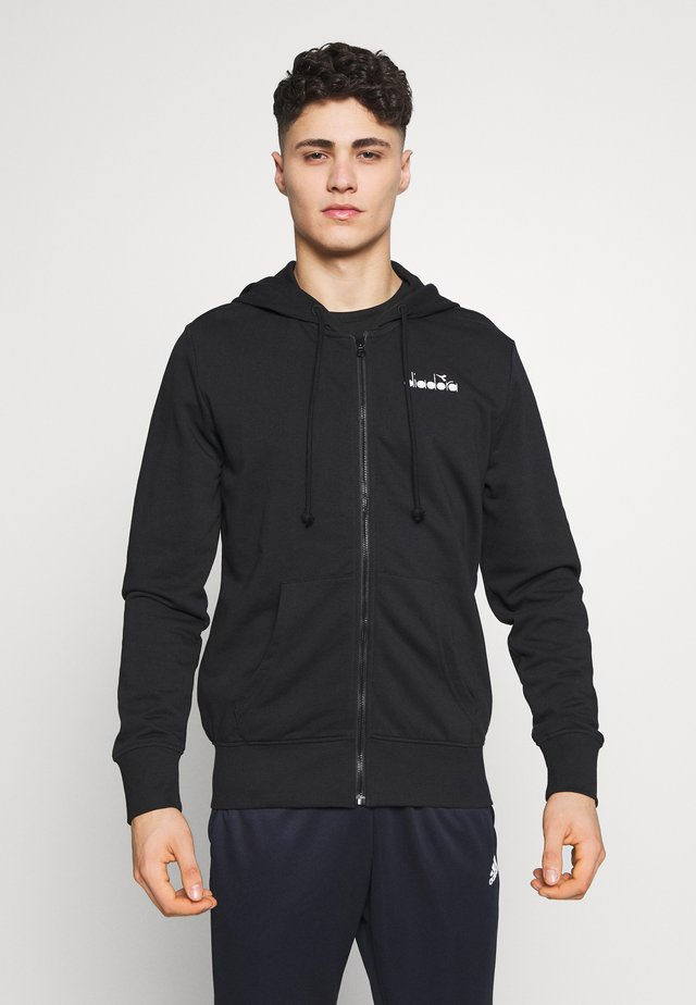 CHROMIA - veste en sweat zippée - black