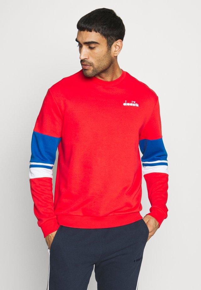Sweatshirt - poppy red