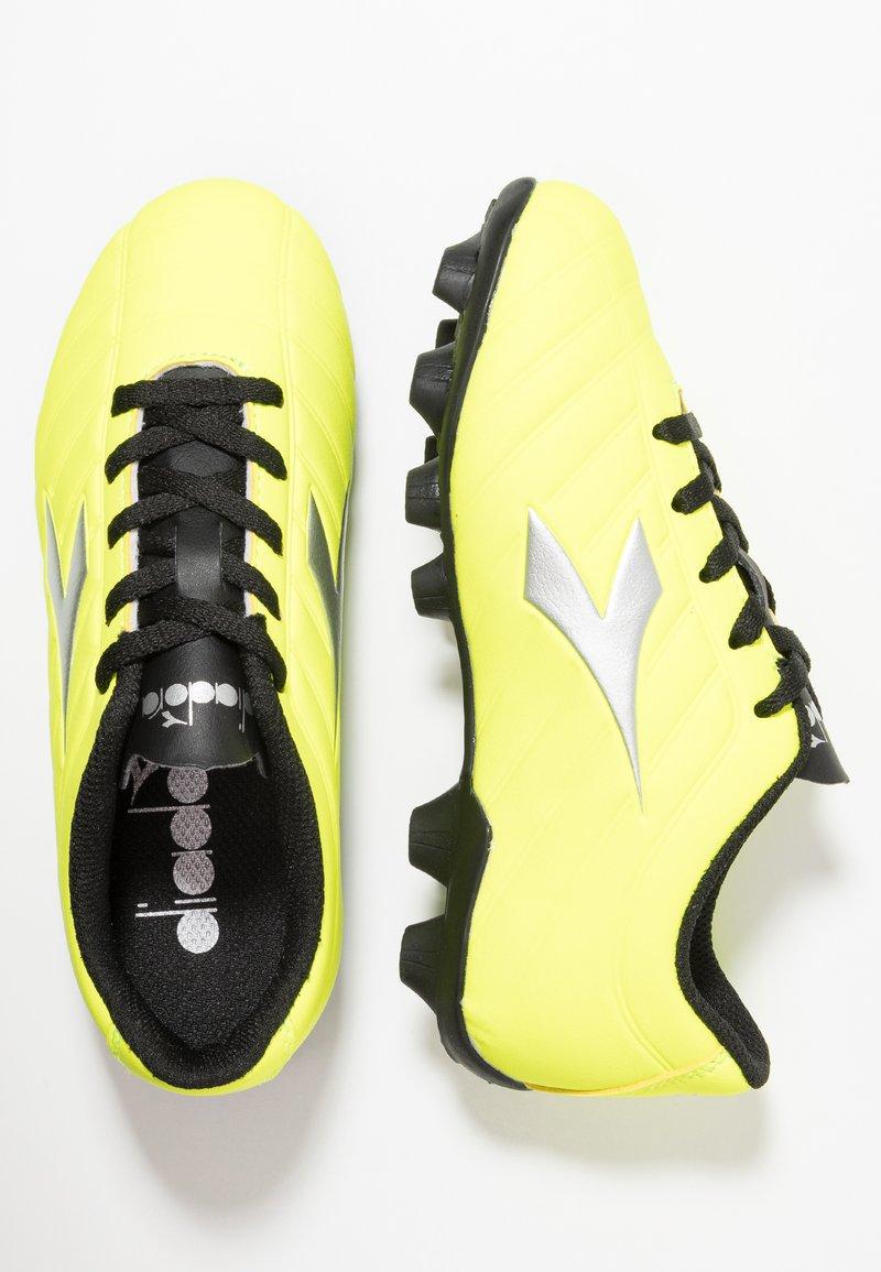 Diadora - PICHICHI - Fotbollsskor fasta dobbar - yellow/silver/black