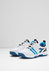 Diadora - S. FLY 2 - Multicourt tennis shoes - white/deep water - 3