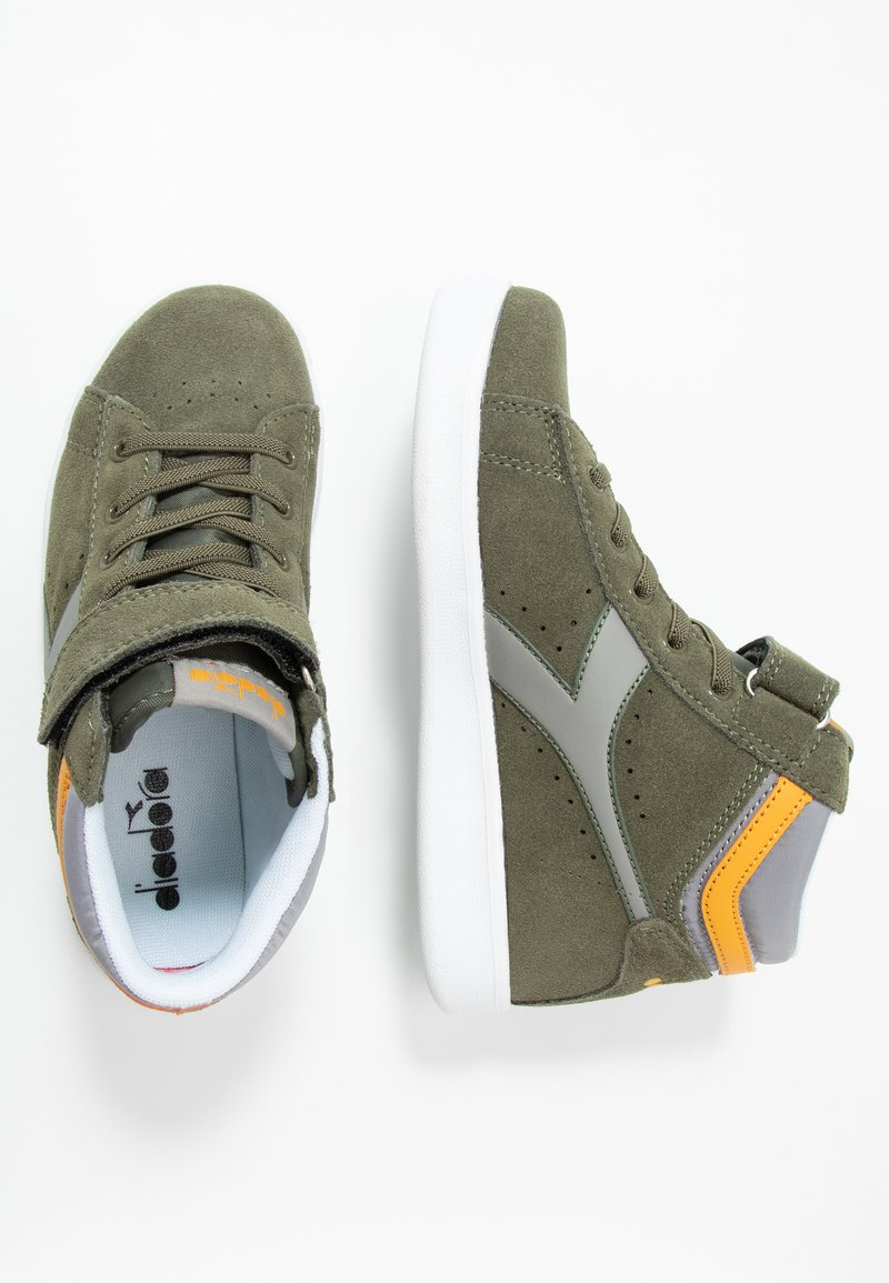 Diadora - GAME S HIGH  - Sneakers high - burnt olive green