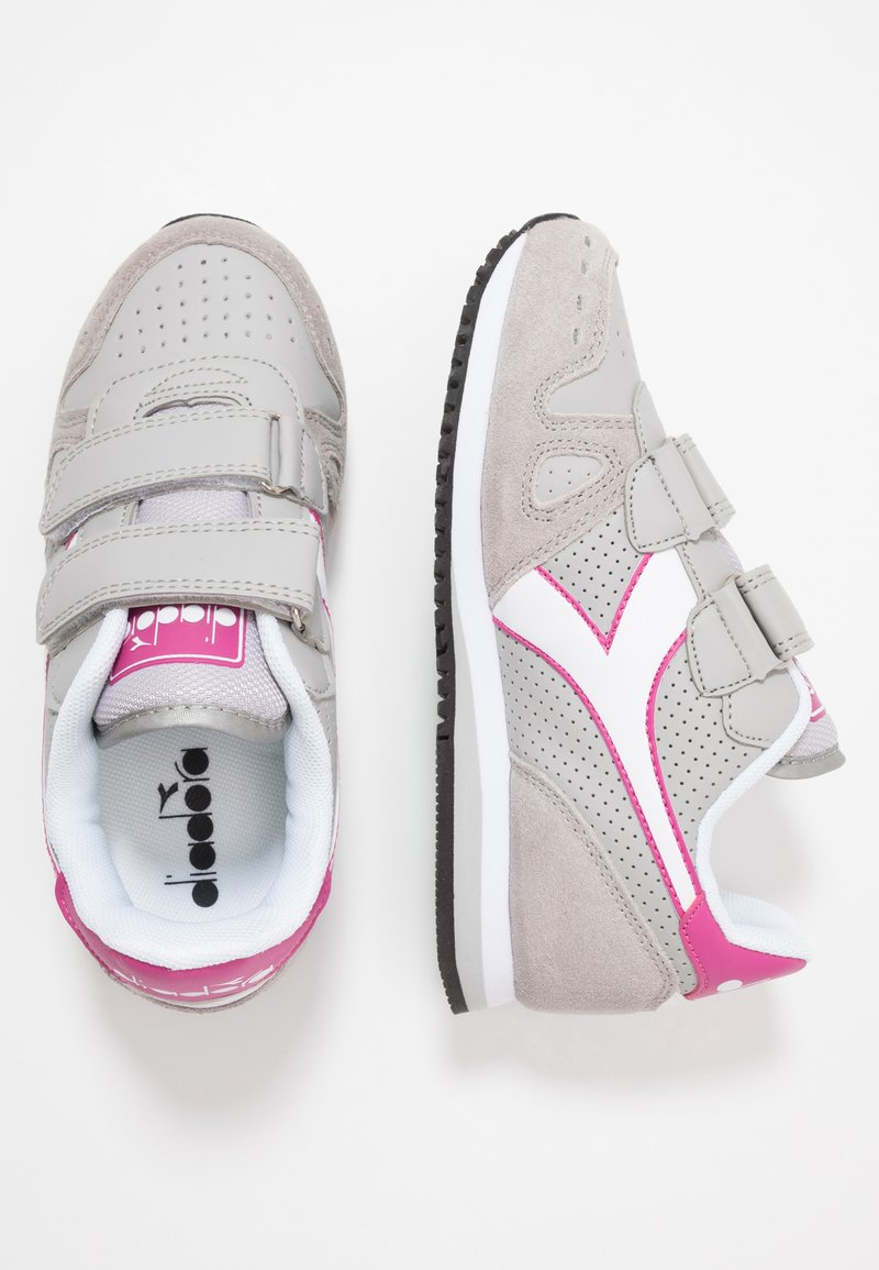 Diadora - SIMPLE RUN UP - Obuwie do biegania Turystyka - ash/rose violet