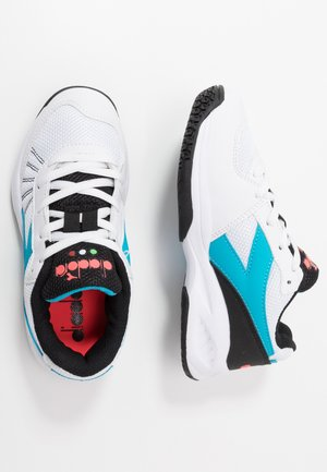 S. CHALLENGE 3  - Multicourt tennis shoes - white/blue fluo