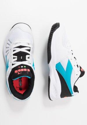 S. CHALLENGE 3  - Buty tenisowe uniwersalne - white/blue fluo