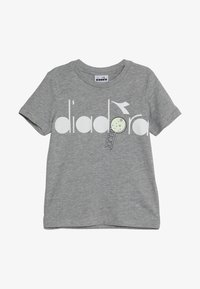 Diadora - PALLE GLOW IN THE DARK - T-shirt con stampa - light middle grey melange - 2