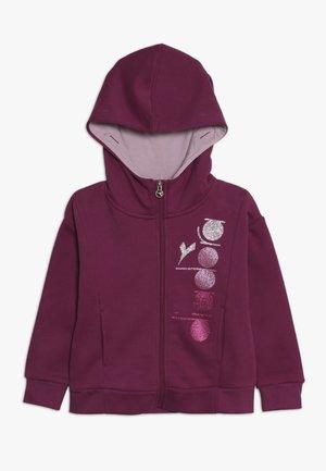 veste en sweat zippée - violet boysenberry