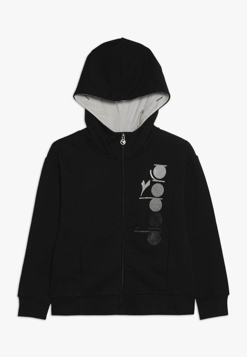 Diadora - veste en sweat zippée - black