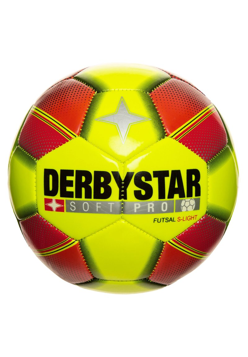 Derbystar - SOFT PRO S-LIGHT FUTSAL FUSSBALL - Football - gelb / rot / schwarz