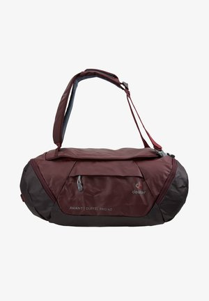 Cestovní taška - maron/aubergine