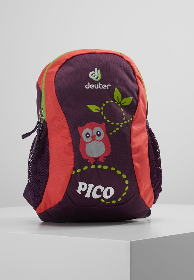 PICO - Tagesrucksack - plum/coral