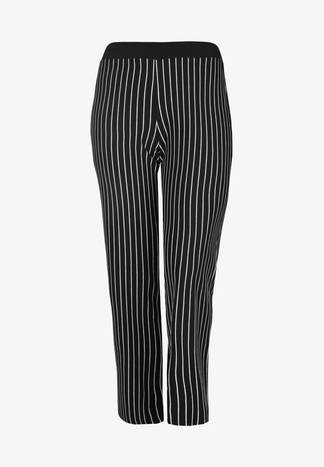 MIT STREIFENMUSTER - Pantalon classique - black