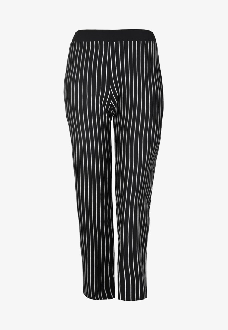 DORIS STREICH - MIT STREIFENMUSTER - Trousers - black