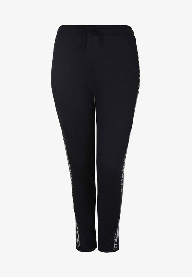 MIT GALONSTREIFEN LEO - Pantalon de survêtement - black