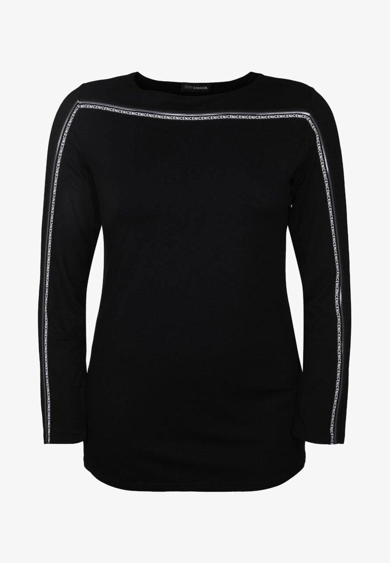 DORIS STREICH - MIT GLITZERSTREIFEN - Long sleeved top - black