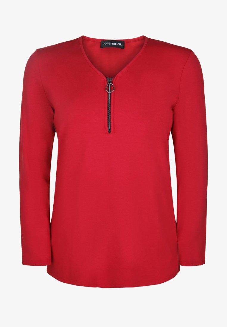 DORIS STREICH - MIT V-AUSSCHNITT - Long sleeved top - red