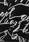 DORIS STREICH - MIT WORDING-PRINT - Bluse - black/white