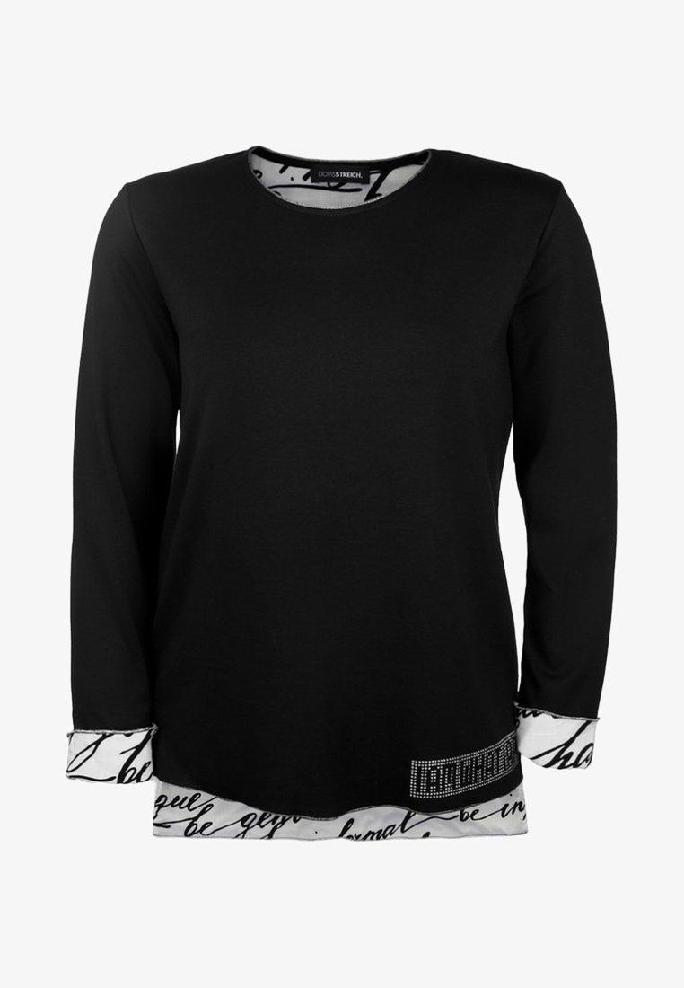 DORIS STREICH - MIT GLITZERDETAILS - Langarmshirt - black
