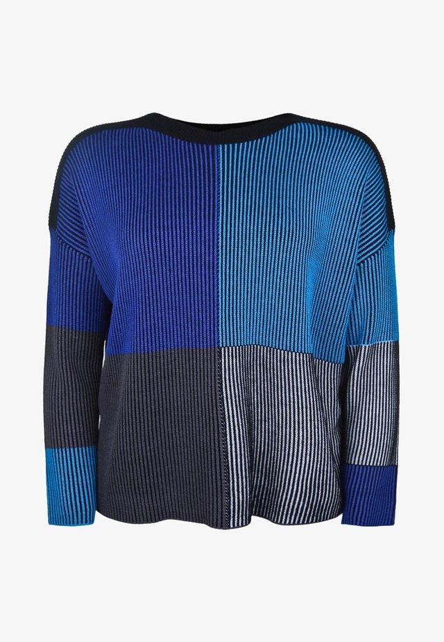 MIT STREIFENMUSTER - Pullover - blue