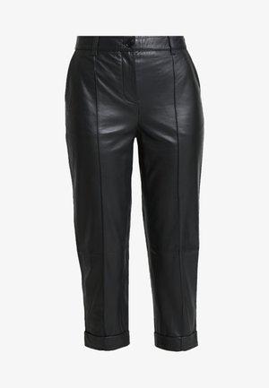 DAHLIA - Leather trousers - black