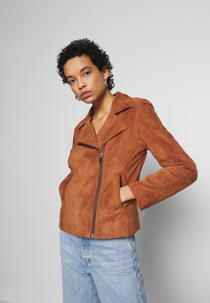 DAY Birger et Mikkelsen - DAY HARBOUR - Leather jacket - topaz