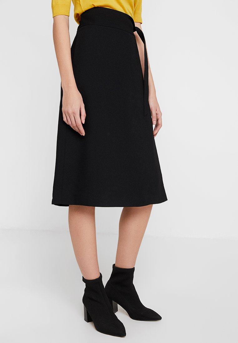 DAY Birger et Mikkelsen - CLASSIC GABARDINE - Wrap skirt - black