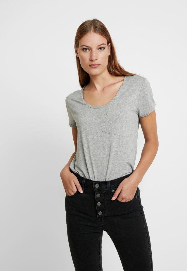 NEW CLEAN TWIST - Basic T-shirt - medium grey melange