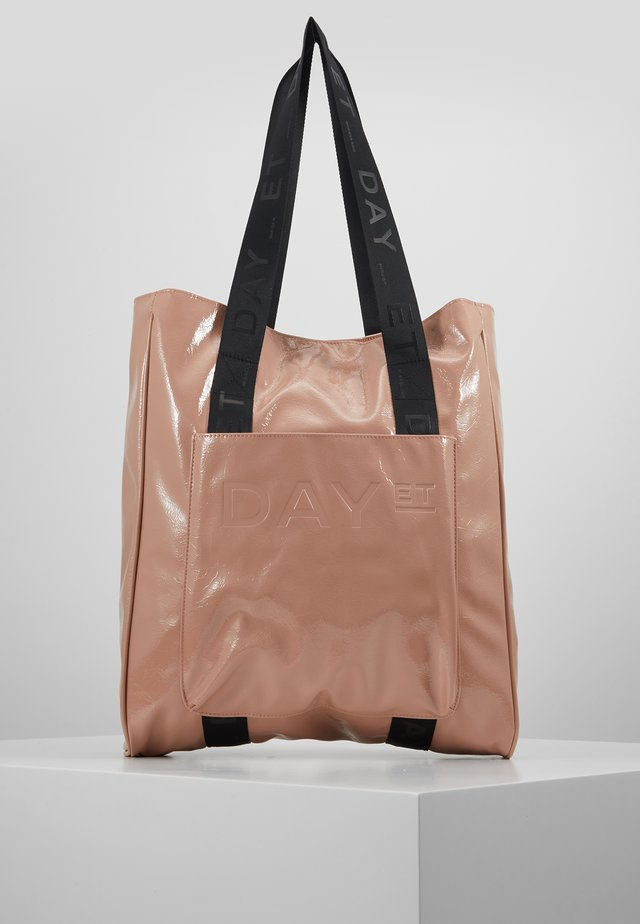 PATENT TOTE - Shopping bag - nude
